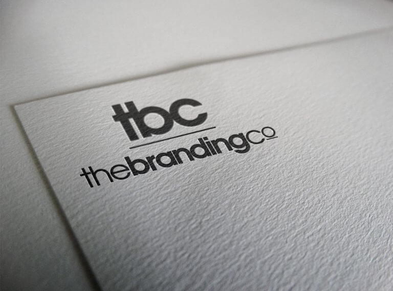 TBC logo and web design