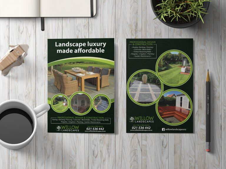 Willow landscapes print marketing